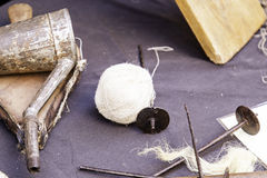 Tools for wool Royalty Free Stock Images