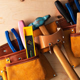 Tools in work-belt Stock Photo