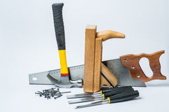 Tools for working with wood Royalty Free Stock Photography