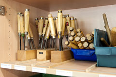 Tools in a Workshop Stock Image