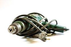 Tools for workshop work. Drill, grinder, scoop and screwdriver. Stock Image