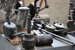 Tools at a workstation Royalty Free Stock Photos