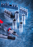 Toolset of insulated screwdriver with replaceable Royalty Free Stock Images