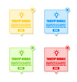 Tooltip bubbles Royalty Free Stock Images
