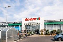 Toom Baumarkt entrace facade with customers Stock Photo