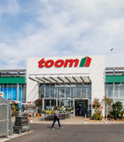 Toom Baumarkt entrace facade with customers Royalty Free Stock Photography