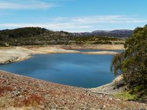 Tooma reservoir lake in the Snowy river Stock Image