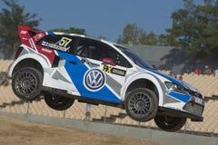 Toomas HEIKKINEN Πόλο του Volkswagen Κόσμος FIA της Βαρκελώνης Στοκ Φωτογραφίες