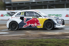 Toomas HEIKKINEN 巴塞罗那FIA世界Rallycross 免版税库存照片