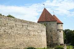 Toompea Castle in the old town of Tallin Royalty Free Stock Image