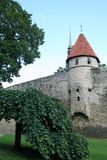 Toompea Castle in the old town of Tallin Royalty Free Stock Images