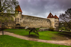 Toompea hill courtyard in Talinn, Estonia Royalty Free Stock Images