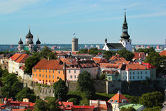 Toompea hill, part of the Tallinn Old Town UNESCO World Heritage Site, Estonia Royalty Free Stock Images