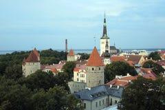 Toompea kulle Tallinn arkivbild
