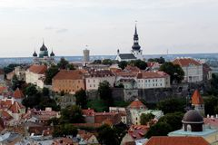 Toompea kulle Tallinn Royaltyfri Fotografi