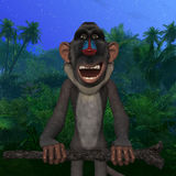 Toon Baboon Royalty Free Stock Images