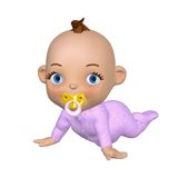 Toon Baby Crawling Royalty Free Stock Photos