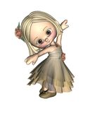 Toon Ballerina - 2 Royalty Free Stock Photos