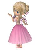 Toon Ballerina en tutú romántico rosado del estilo ilustración del vector