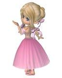Toon Ballerina in Roze Romantische Stijltutu Royalty-vrije Stock Afbeeldingen