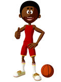 Toon Basketball Player Royalty Free Stock Photography
