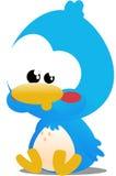 Toon Bird. Cute little blue toon bird icon Stock Image