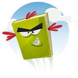 Toon Bird Book Character Flying Stock Photo