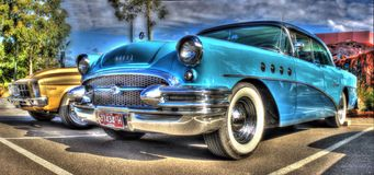 2 toon blauw Buick Royalty-vrije Stock Fotografie