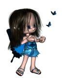 Toon Butterfly Fairy - Blauw Royalty-vrije Stock Afbeeldingen