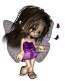 Toon Butterfly Fairy - Purple Royalty Free Stock Photography