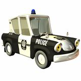 Toon Car Police. 3D Toon Render Royalty Free Stock Photography
