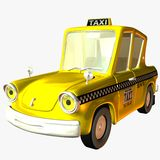 Toon Car Taxi. 3D Toon Render Stock Photos