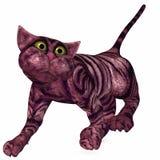Toon Cat - 3D Figure. 3 D Render of an Toon Cat Stock Images