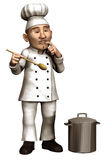 Toon chef with a pot Stock Image