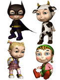 Toon children in costumes Stock Photo