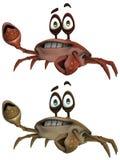 Toon Crab Στοκ φωτογραφίες με δικαίωμα ελεύθερης χρήσης