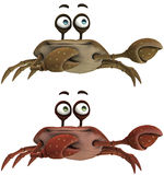 Toon Crab. 3d render of a toon crab stock illustration