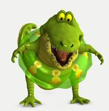 Toon croc Stock Images