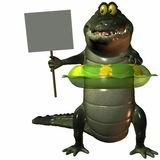Toon Croc. 3 D Computer Render of an Toon Croc Royalty Free Stock Photo