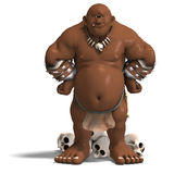 Toon cyclop barbar Stock Images