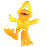 Toon Duck Quack Stock Photography
