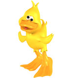 Toon Duck Quack. Very funny toon duck with Clipping Path over white royalty free illustration