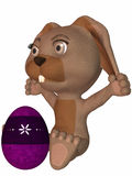 Toon Easter Rabbit Royalty Free Stock Images