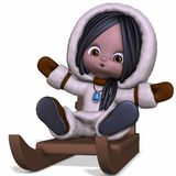 Toon Eskimo. 3D Render of an Toon Eskimo Royalty Free Stock Photos
