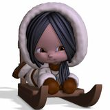 Toon Eskimo. 3D Render of an Toon Eskimo Stock Photos