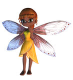 Toon Fairy in Yellow Dress Royalty Free Stock Images