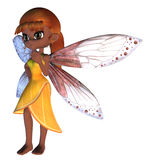 Toon Fairy in Yellow Dress Stock Photos