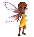 Toon Fairy in Yellow Dress Royalty Free Stock Photo