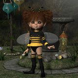 Toon Figure - abeille Images stock