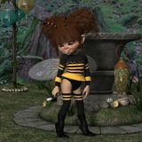 Toon Figure - abeille Photos libres de droits